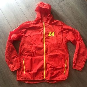 NASCAR Jeff Gordon orange jacket poncho large